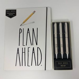 RAE DUNN bundle: monthly planner and pens
